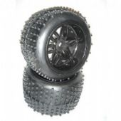 S098 - Sintec - Pneu e Roda Monster Off-Road 14mm - Preto - Par