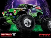 TRAX3602A - Monster Jam Grave Digger 2WD RTR c/ motor e rádio