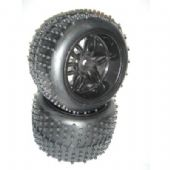 S096 - Sintec - Pneu e Roda Monster Off-Road 14mm - Preta - Par
